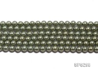 Wholesale 8mm Round Green Seashell Pearl String
