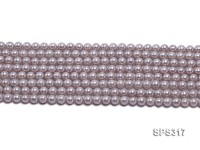 Wholesale 6mm Round Lavender Grey Seashell Pearl String