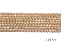 Wholesale 6mm Round Golden Seashell Pearl String