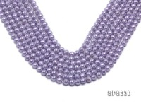 Wholesale 6mm Round Lavender Seashell Pearl String