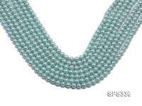 Wholesale 6mm Round Sky-blue Seashell Pearl String