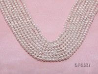 Wholesale 5mm Round White Seashell Pearl String