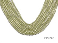 Wholesale 5mm Green Round Seashell Pearl String