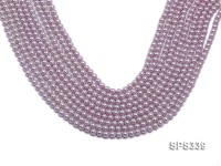 Wholesale 5mm Round Lavender Seashell Pearl String