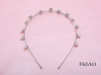 8.5mm White Round Cultured Freshwater Pearl Hairband