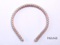 7.5-8mm Double-row Round Cultured Freshwater Pearl Hairband