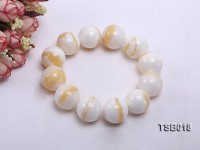22mm Round Golden Tridacna Bracelet