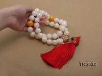 16.5-17mm Round Jadefied Tridacna Necklace