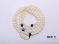 13mm Round Jadefied Tridacna Beads Necklace