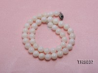 9mm Round Jadefied Tridacna Beads Necklace
