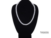 11.5-12mm Round Jadefied Tridacna Beads Necklace