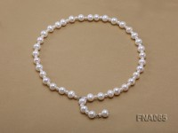 10-11mm White Round Freshwater Pearl Necklace