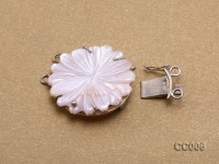 30mm Double-row Seashell Flower Clasp with Sterling Silver