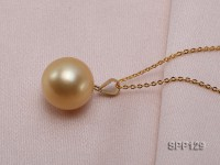 13.5mm Golden South Sea Pearl Pendant