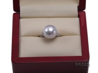 Luxury 14.5mm Shiny White South Sea Pearl Ring