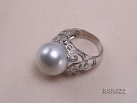 Luxury 15.5mm White South Sea Pearl Ring