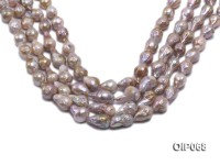 12-16mm Lavender Baroque Pearl String