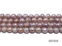 12-13.5mm Lavender Baroque Pearl String