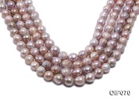 12-13.5mm Lavender Baroque Pearl String