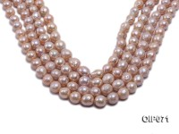 11.5-13.5mm Pink Baroque Pearl String