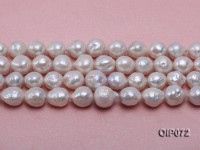 11.5-14.5mm White Baroque Pearl String