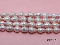 11-13.5mm White Baroque Pearl String