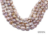 12-15mm Lavender Baroque Pearl String