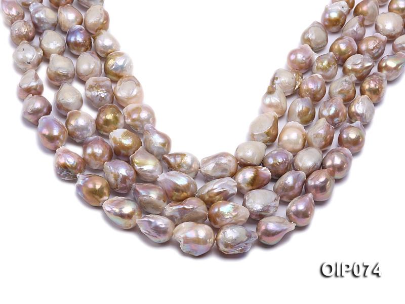 12-15mm Lavender Baroque Pearl String