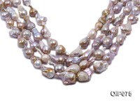 14-16.5mm Lavender Baroque Pearl String