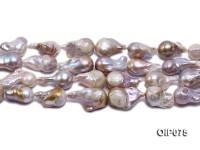 14-16.5mm Lavender Baroque Pearl String