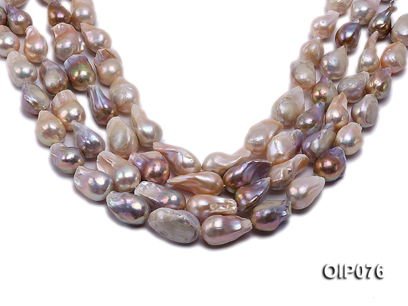 15-18mm Lavender Baroque Pearl String