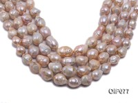 12-18mm Pink Baroque Pearl String
