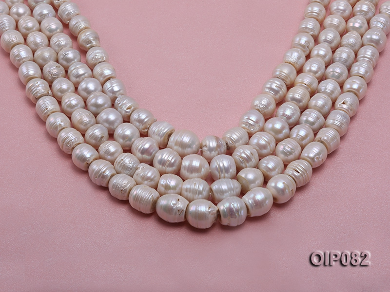 12.5-16mm White Baroque Pearl String