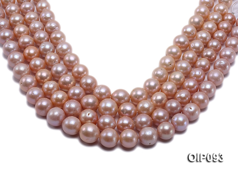 11.5-15.5mm Pink Edison Pearl String