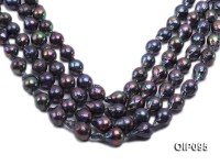 14.5-16.5mm Black Irregular Pearl String