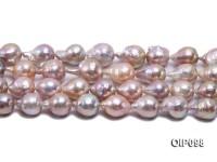 13.5-15mm Lavender Baroque Pearl String