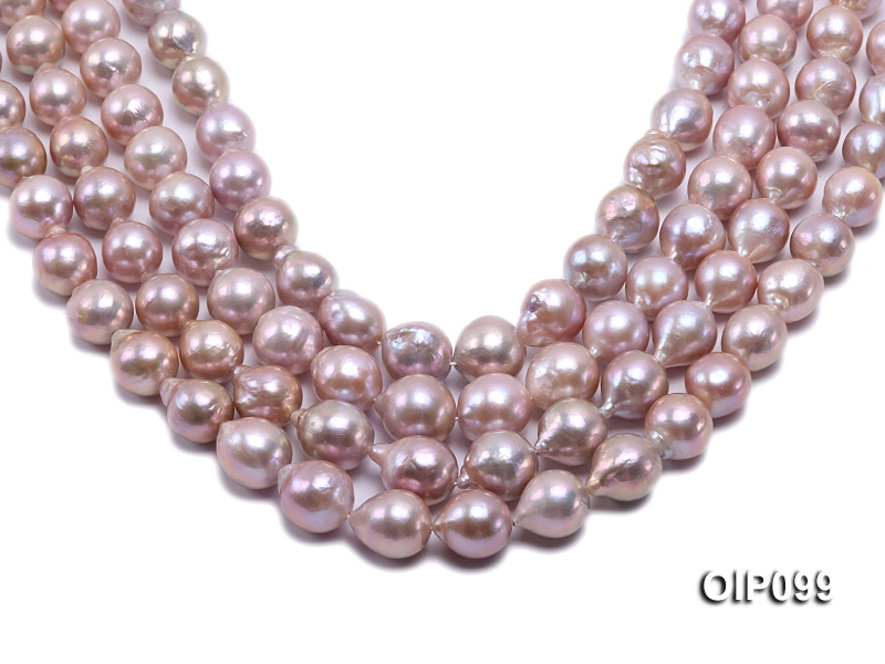 12.5-15mm Lavender Baroque Pearl String