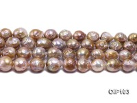 12.5-15.5mm Lavender Irregular Pearl String