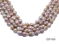 12-14mm Lavender Irregular Pearl String