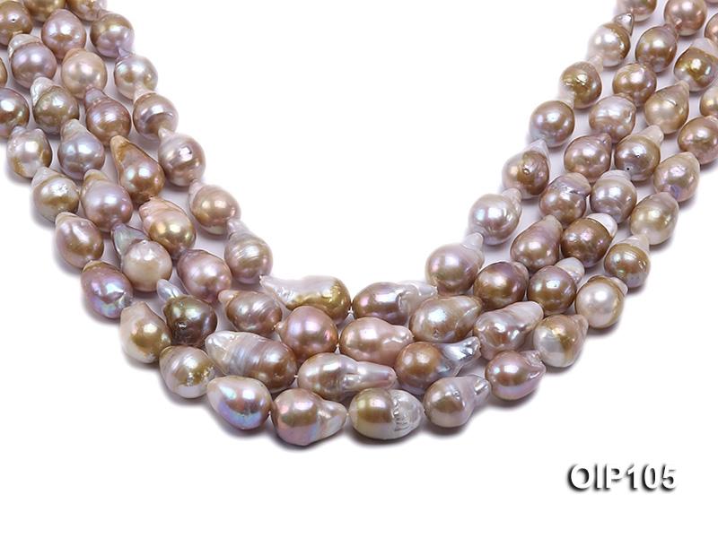 12-14mm Lavender Irregular Pearl String