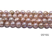 12.5-15.5mm Pink Edison Pearl String