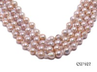 12-14mm Pink Irregular Pearl String