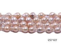 12-14mm Pink Irregular Pearl String