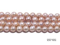 12.5-14.5mm Pink Irregular Pearl String