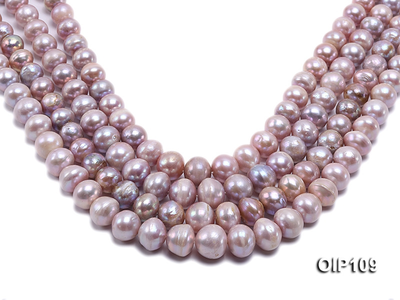 12-16mm Lavender Irregular Pearl String