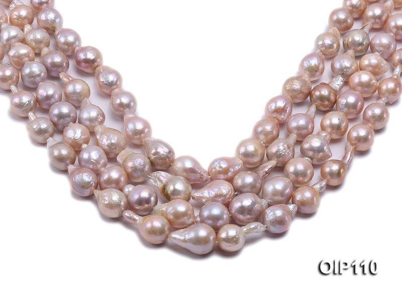 12-14.5mm Lavender Irregular Pearl String