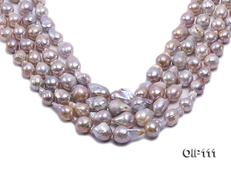 12-15mm Lavender Irregular Pearl String