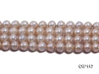 12.5-15mm Pink Irregular Pearl String