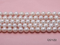 11-12mm White Round Edison Pearl String