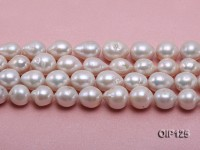 Wholesale & Retail 12-15.5mm White rregular Pearl String